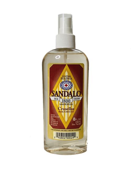 Kolonia 1800 Sandalwood Sandalo Eau De Cologne For Clearing Away Stress & Enhancing Your Spiritual Essence (8oz)