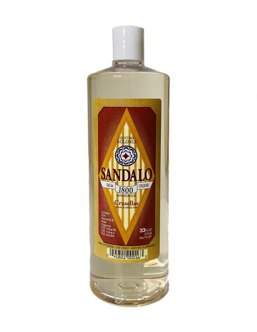 Kolonia 1800 Sandalwood Sandalo Eau De Cologne For Clearing Away Stress & Enhancing Your Spiritual Essence (33oz)