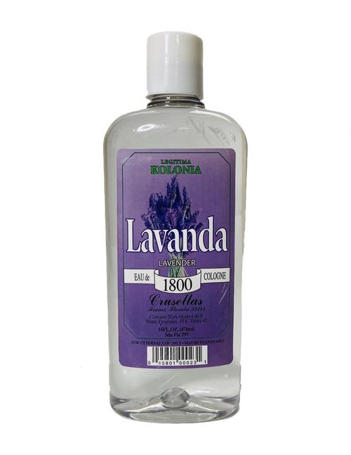 Kolonia 1800 Lavender Lavanda  Eau De Cologne To Unwind A Tense Mind Discharge Negative Energy & Relax (16oz)