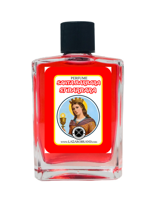 Saint Barbara Santa Barbara Spiritual Perfume For Protection From Danger With The Strength Of Thunder & Lightning 1oz