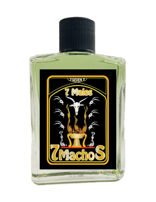 7 Male 7 Machos Spiritual Perfume To Attract Love Passion & Romance 1oz