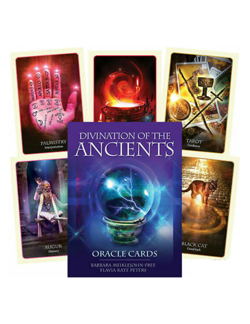 Divination Of The Ancients Oracle Card Deck & Guidebook Set By Barbara Meiklejohn Free & Flavia Kate Peters