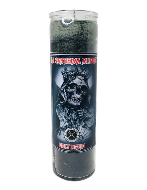 Santa Muerte Holy Death 7 Day Prayer Candle For Making Positive Changes Time To End Suffering Cut Negative Influences Brighter Future (Black)