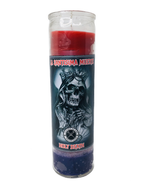 Santa Muerte Holy Death 7 Day Prayer Candle For Making Positive Changes Time To End Suffering Cut Negative Influences Brighter Future (Multicolor)