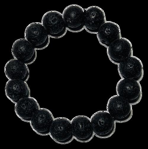 Lava Stones Spiritual Bead Bracelet (12mm Beads)