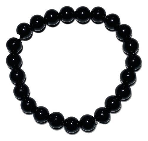 Black Onyx Spiritual Bead Bracelet (8mm Beads)