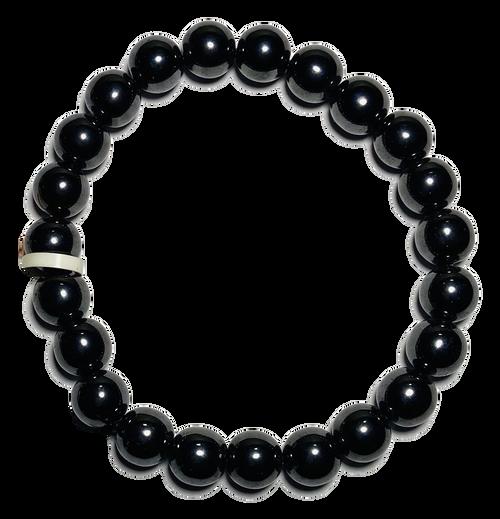 Hematite Spiritual Bead Bracelet (8mm Beads)
