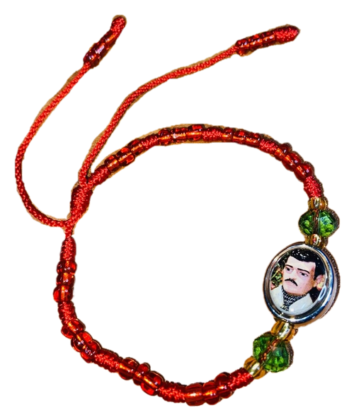 Jesus Malverde Angel Of The Poor Folklore Hero Spiritual Bead Bracelet For Protection Guidance & Wisdom