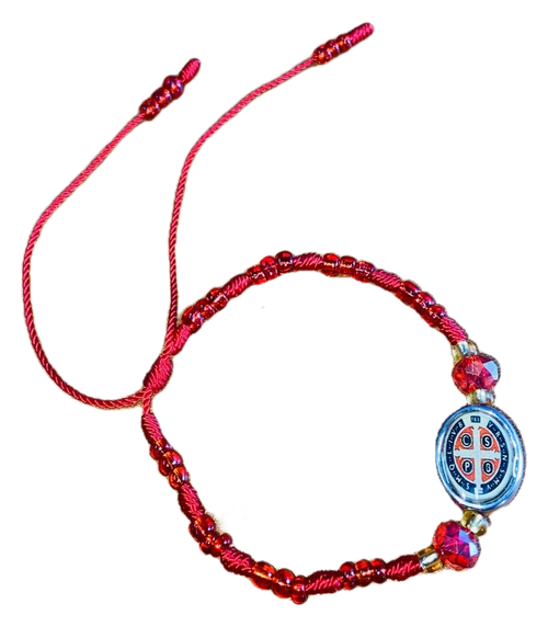 Saint Benedict San Benito Spiritual Image Bracelet For Protection From Enemies & Increase Your Inner Strength