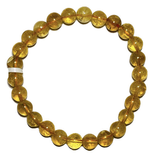 Citrine Spiritual Bead Bracelet (6mm Beads)