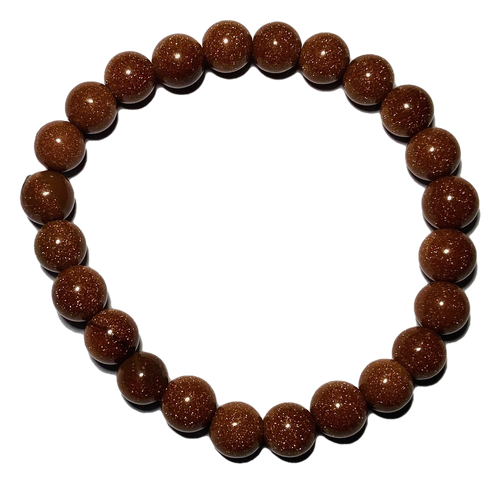 Gold Sandstone Spiritual Bead Bracelet (8mm Beads)