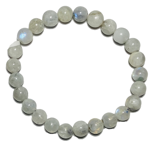 Crystal 50% Clear Spiritual Bead Bracelet (8mm Beads)