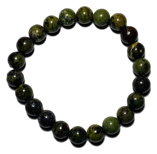 Dragon Blood Jasper Spiritual Bead Bracelet (8mm Beads)