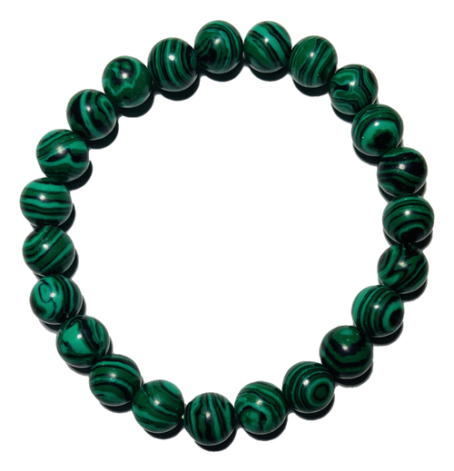 Malachite Spiritual Bead Bracelet (8mm Beads)