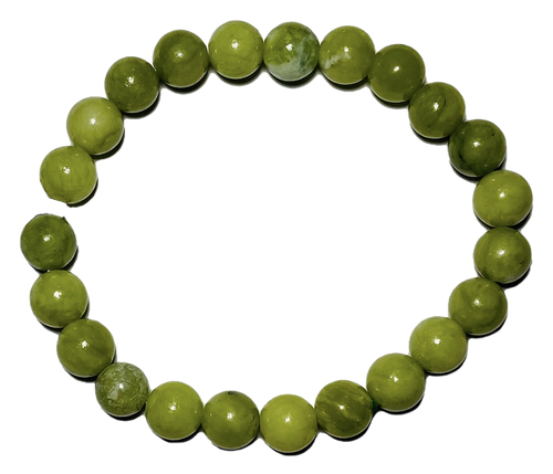 Chinese Jade Spiritual Bead Bracelet (8mm Beads)