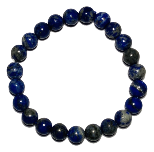 Lapis Natural Spiritual Bead Bracelet (8mm Beads)