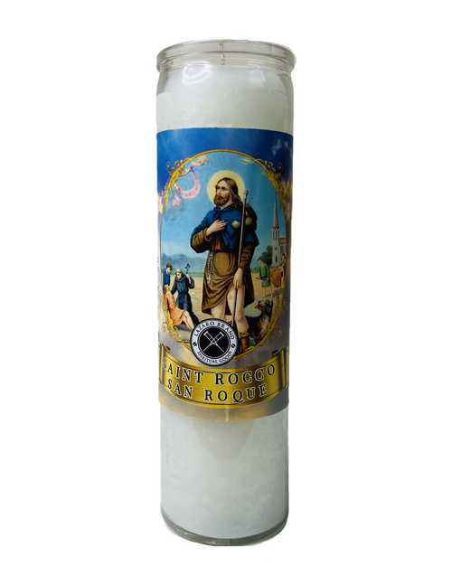 Saint Rocco San Roque 7 Day Prayer Candle To Deliver Us From This Plague We Pray For Healing