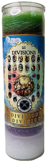 21 Divisions The Mystery The Magic 7 Day Prayer Candle (Multicolor)
