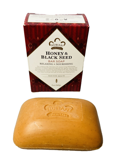 Honey & Black Seed Bar Soap Relaxing & Nourishing Made With Apricot Oil (5oz Soap Bar)