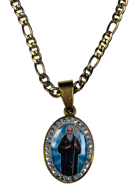 Saint Benedict San Benito Spiritual Necklace For Protection From Enemies & Increase Your Inner Strength