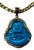"""Lucky Buddha Pendant 2"""" With Stainless Steel Necklace (Bright Blue #2)"""