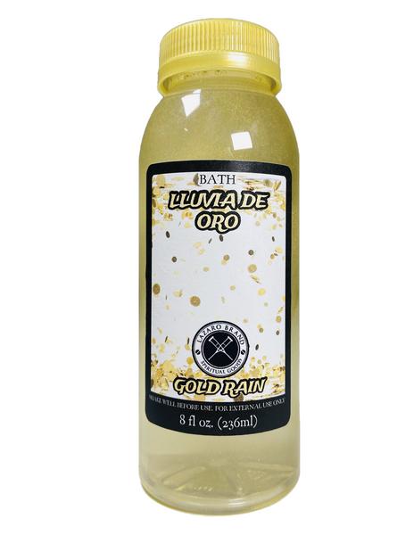 *NEW* Gold Rain Lluvia De Oro Spiritual Bath Liquid With Shimmer Glitter For Good Luck Boost(8oz)