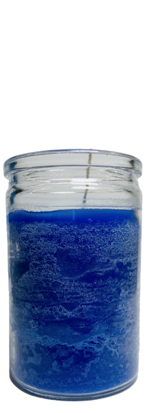 Blue 50 Hour Prayer Candle For Peace, Wisdom, Success In Court, Legal Matters, ETC.