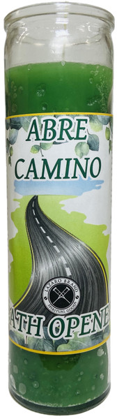 Abre Camino Road Opener 7 Day Prayer Candle To Open Your Pathway To Success & Clear Away Obstacles (Green)