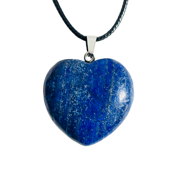 Sodalite Gemstone Heart Necklace For Intuition, Energy, Guidance, ETC.