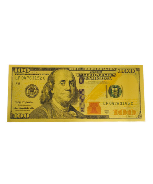 $100 Lucky Golden Spiritual Money Banknote Currency (As Seen On Our You Tube Channel Lazaro Brand TV)