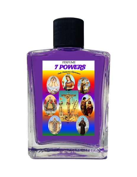 7 African Powers 7 Potencias Spiritual Perfume To Overcome Obstacles & Protection From Harm 1oz