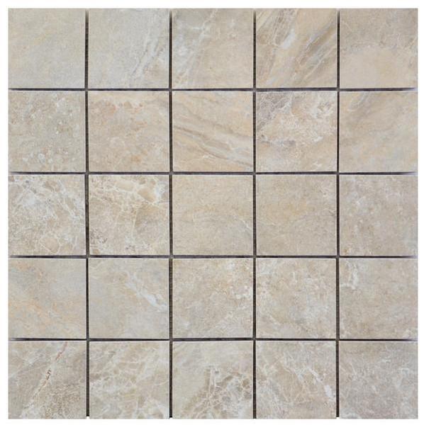 Icaria Dedalo Beige 2x2 Mosaic 12x12 - EACH