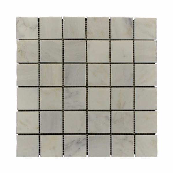 Carrara White Marble 2x2 Honed Mosaic 12x12 - EACH