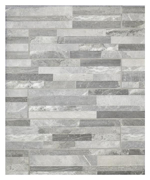 Tiffany 3D Grey Porcelain Tile 6x24 - CASE