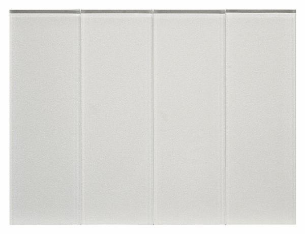 White Mist 8 mm Metallic Glass Tile 3x9 - EACH