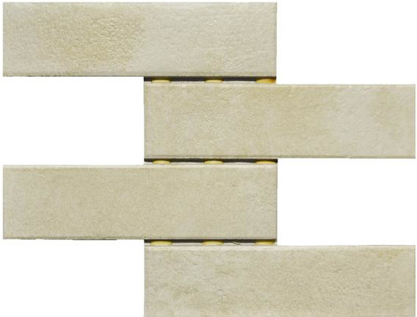 Cambridge White 3x10 Mosaic - EACH