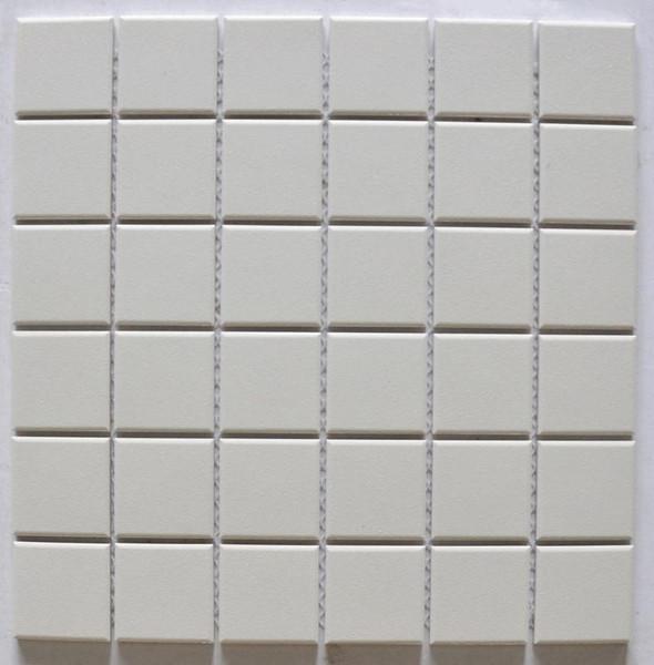 Cream 2x2 Porcelain Mosaic 12x12 - EACH