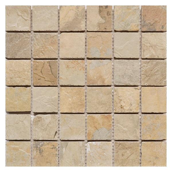 Flagstone Autumn 2x2 Porcelain Mosaic 12x12 - EACH