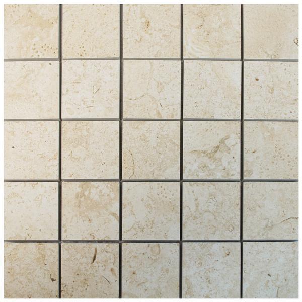 Coralina Belice Blanco 2x2 Porcelain Mosaic 12x12 - EACH