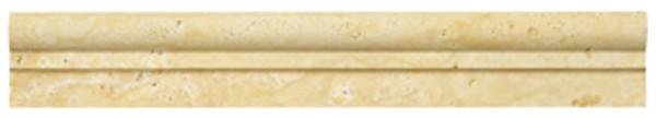 Antique Gold Travertine Ogee 00978 2x12 - EACH