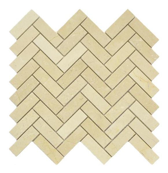 Crema Marfil Herringbone Mosaic Polished 12x13 - EACH
