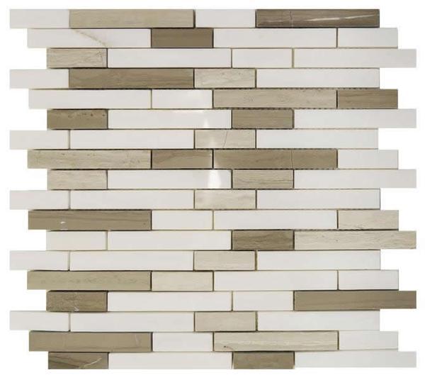 Carrara/Woodvein/Emperador Sticks Mosaic - EACH