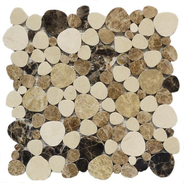 Marmol Palm Beach Emperador Mix Mosaic - EACH