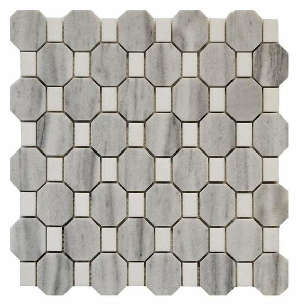 Tuscany Octagon Mosaic 12x12 (MG641) - EACH