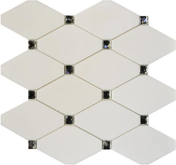 Bianco Diamond Mosaic 10.5x11.5 (MG945) - EACH