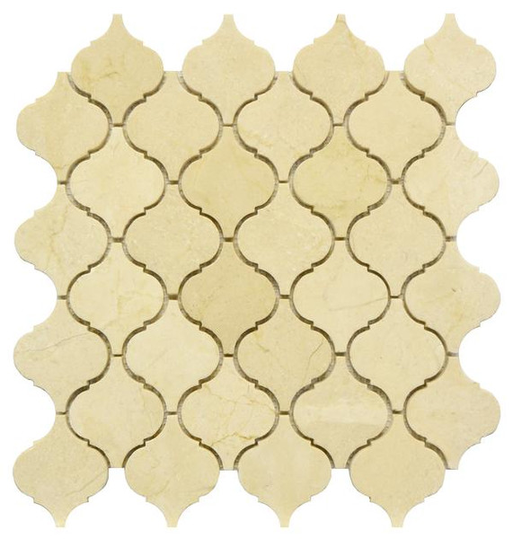 Crema Marfil Lantern Mosaic Polished 12x12 - EACH