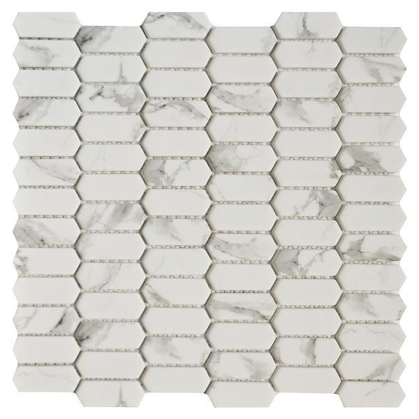 Carrara Picket Glass Mosaic - EACH