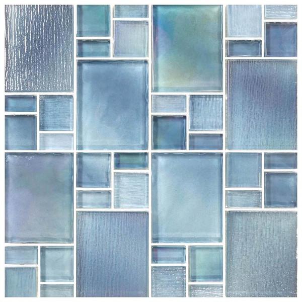 Avalon Blue Puzzle Mosaic - EACH