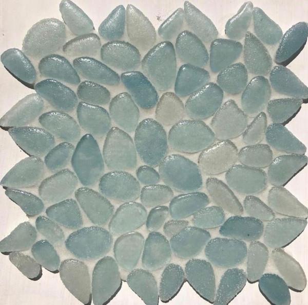 Liquid Rocks Aqua Blue Mosaic 11.67x11.76 - EACH