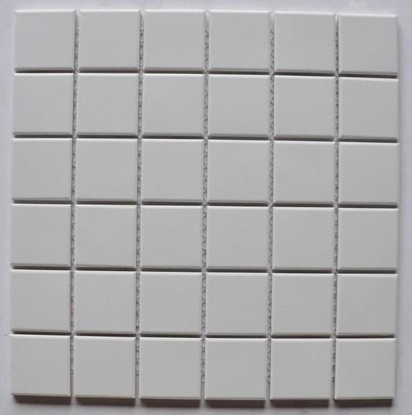 White Textured 2x2 Porcelain Mosaic 12x12 - EACH